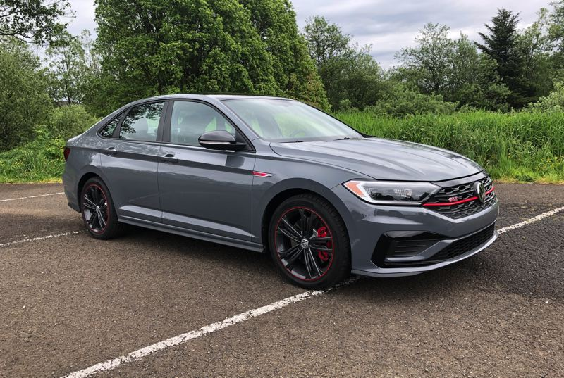 PMG PHOTO: JEFF ZURSCHMEIDE - The GLI is the performance version of the popular VW Jetta, and the 2019 version is the best yet, with a turbocharged 2.0-liter engine, bold styling and special trim.