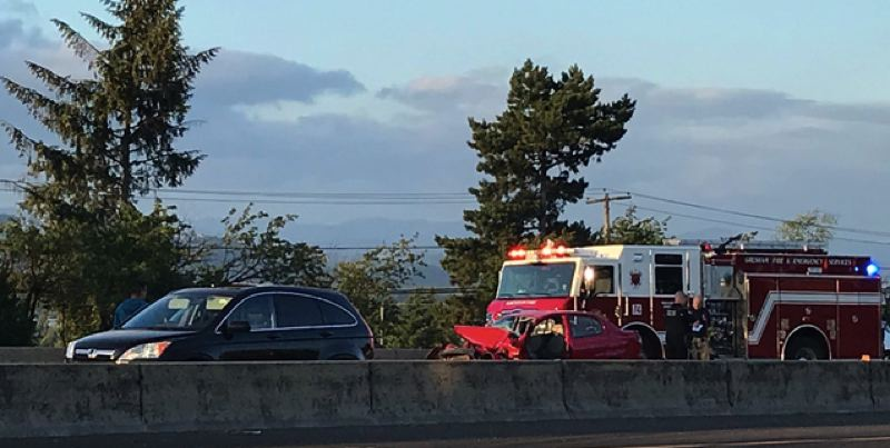 KOIN 6 NEWS IMAGE - The Portland police responded to a fatal crash on Interstate 84.