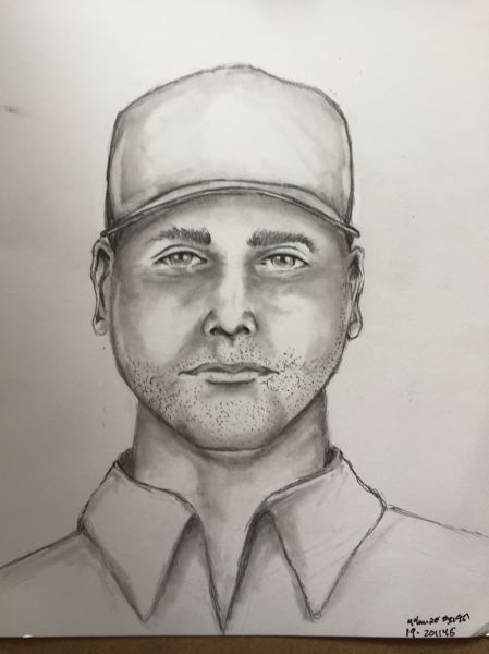 PPB SKETCH - A police sketch shows a suspect in a random stabbing on 82nd Avenue.