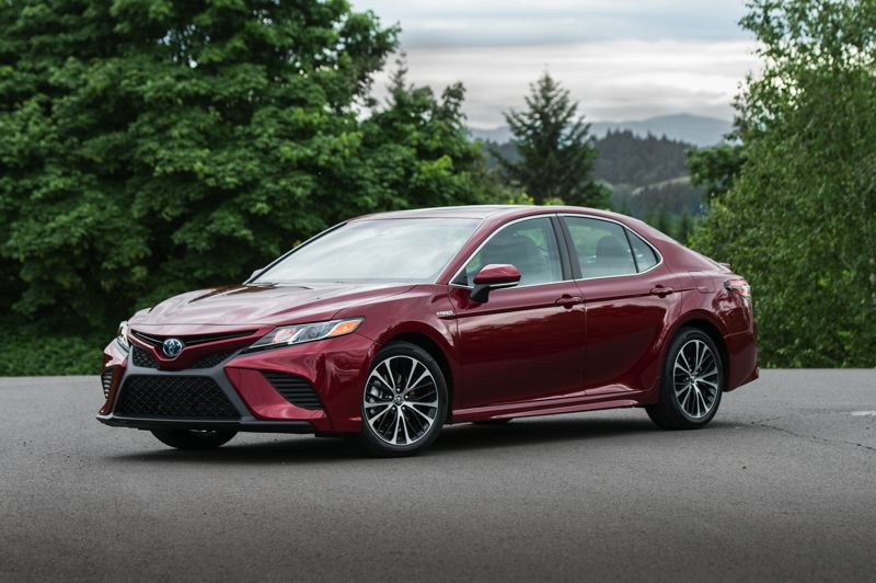 COURTESY TOYOTA MOTOR SALES - There is nothing boring about the 2019 Toyota Camry Hybrid. It combines high mileage with plenty of power, impressive handling and room for five adults.