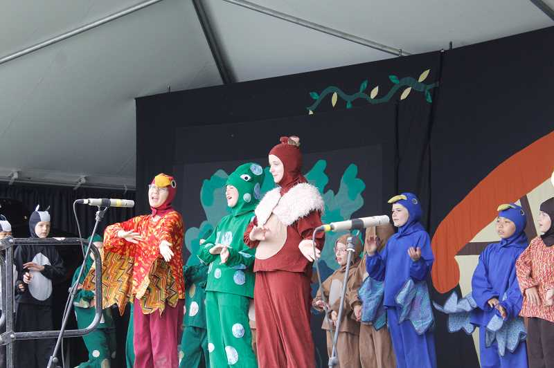 PMG PHOTO: AVA EUCKER - Forrest animals sing during a performance of Snow White and the Seven Dwarfs.