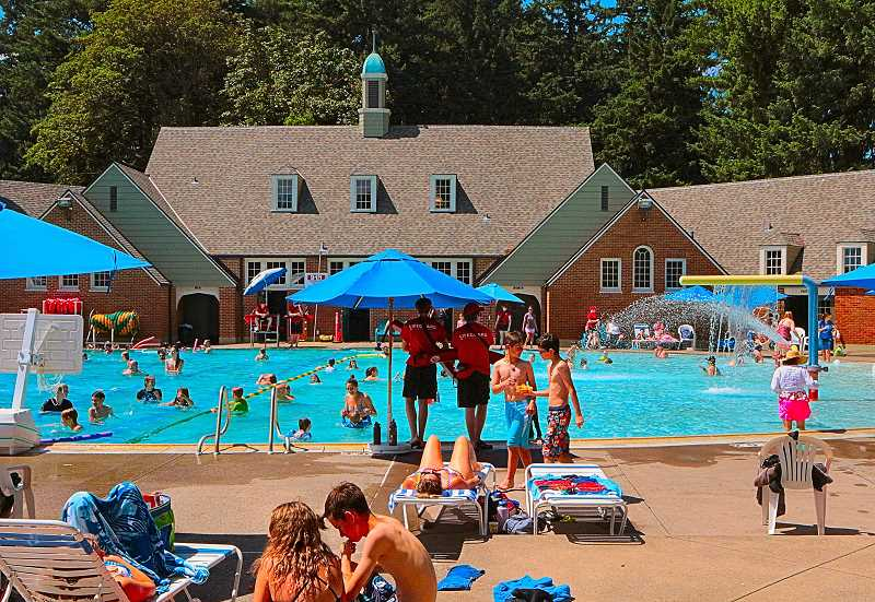 DAVID F. ASHTON - Folks are heading to the historic Sellwood Pool and its recently repaired Pool House, now that theyre open for the season at the south end of Sellwood Park!