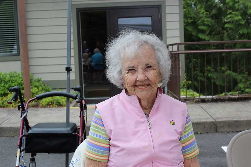 PMG PHOTO: AVA EUCKER - Resident Patty Melrose said she is glad to be helping at the event.