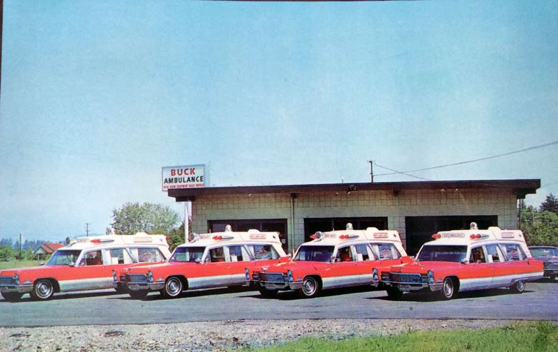 COURTESY PHOTO - In the early 1970s, ambulance drivers drove Cadillacs for private companies. Their main job was to rush patients to the hospital. The documentary Rose City Experiment shows the transition from rushing victims to the hospital to the modern system of emergency medical care.