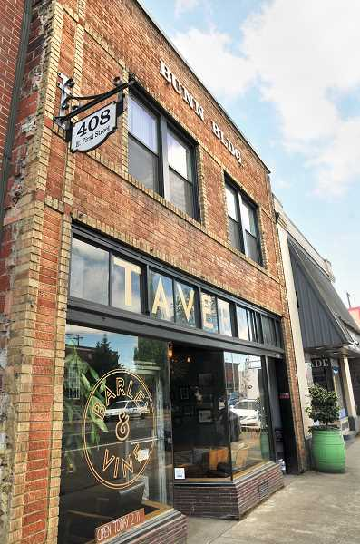 GRAPHIC PHOTO: GARY ALLEN - The historic Bunn Building, which sits adjacent to city hall on First Street in Newberg, has been recommended for a grant to restore the brick facade of the structure.