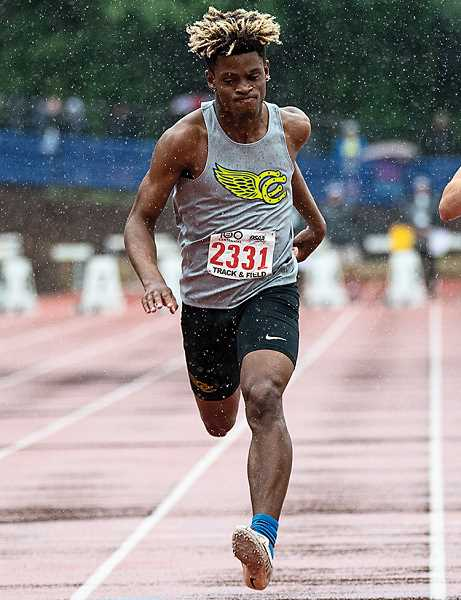 LON AUSTIN/CENTRAL OREGONIAN - Zach Guthrie, who is one of the top sprinters in the state, is one of the Cowboys' key returners next year. CCHS lost 25 members of this year's track and field team to graduation.