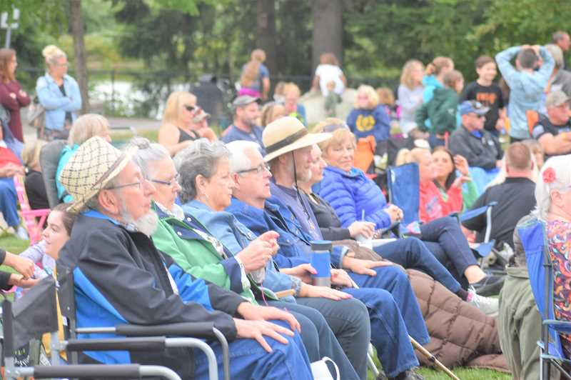 PMG PHOTO: EMILY LINDSTRAND - The first event in a new summer concert series in Estacada drew a crowd on Wednesday, June 19.