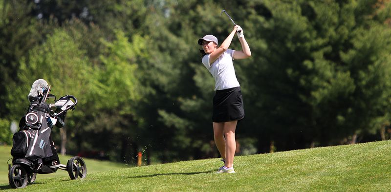 PMG PHOTO: MILES VANCE - Lakeridge sophomore Maddie Baker was one of the Three Rivers League's best this spring, finishing fifth overall and winning a first-team all-league berth.