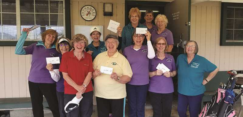 COURTESY PHOTO: RUTH DESANTIS - Winners from the Hubbard Chevrolet Memorial Tournament from the Woodburn Womens Golf Club.