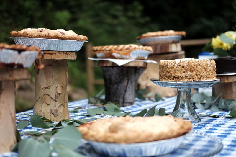 New Seasons Market donated pies to help celebrate the opening of Hidden Falls Nature Park.