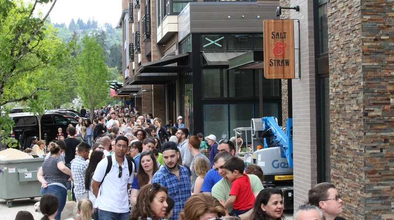 PMG FILE PHOTO  - Residents lined up in droves for the opening of Portland-based Salt & Straw last spring.