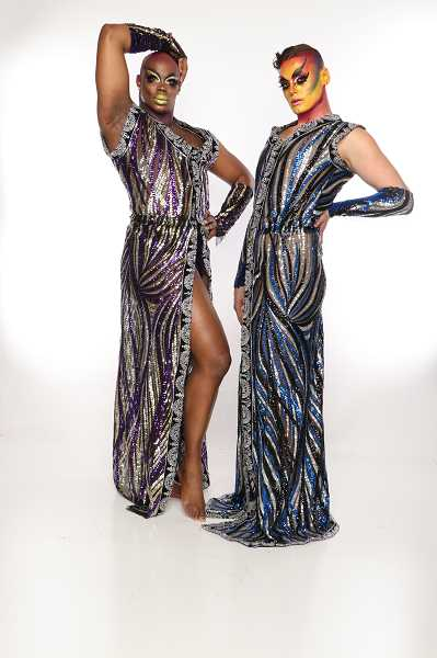 """COURTESY PHOTO - Isaiah Esquire and Johnny Nuriel, also known as Portland's Glamazon Burlesque Power Duo, will perform Saturday, June 29, at The Vault Theater in Hillsboro for """"Cabaret Variété.'"""