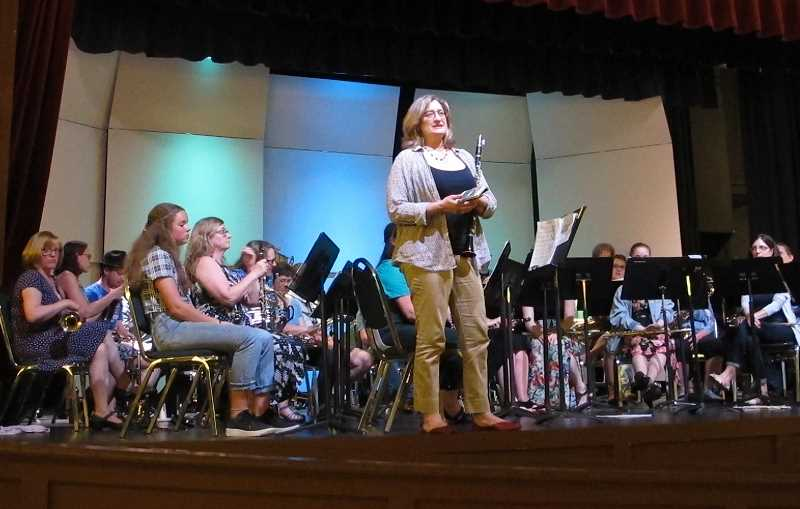 PMG PHOTOS: BILL GALLAGHER - The SW Portland Community Band was Kristin Rencher's idea. She plays clarinet.