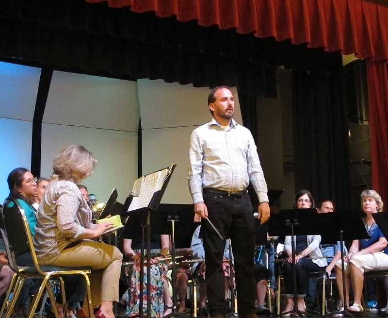 Nick Caldwell is the band director at Wilson High School when he's not conducting the SW Portland Community Band