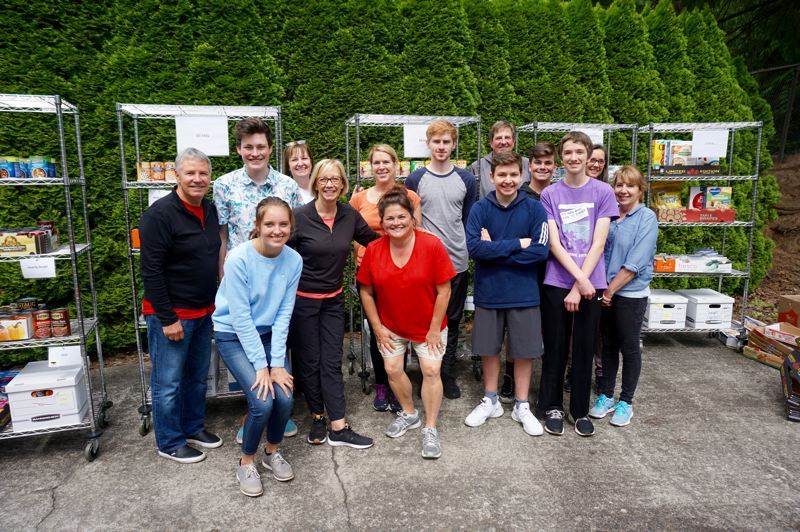 PMG PHOTO: CLAIRE HOLLEY - The team of Hunger Fighters volunteers on Tuesday morning.