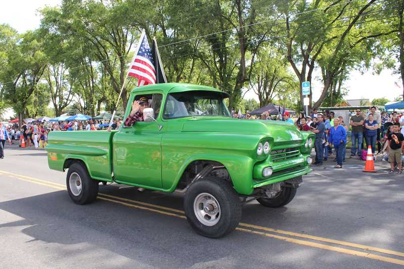 HOLLY GILL/MADRAS PIONEER - The Fourth of July parade in Madras is the community's largest of the year.