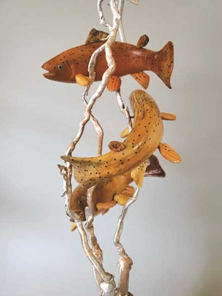 COURTESY PHOTO: JUDE STRADER - Pictured is 'Fish of the Molalla River' by Steve Mysinger and Kate Simmons.