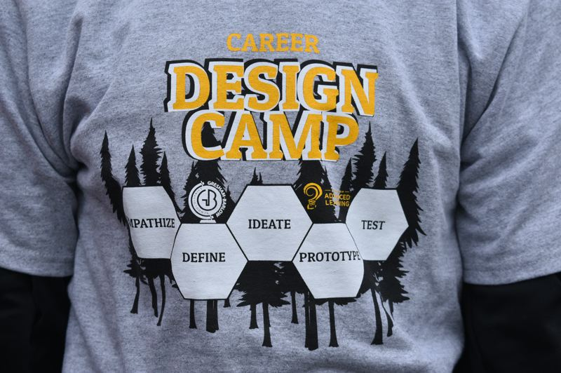 PMG PHOTO: TERESA CARSON - All the students in the design camp got a cool T-shirt, reminding all of the principals of design.