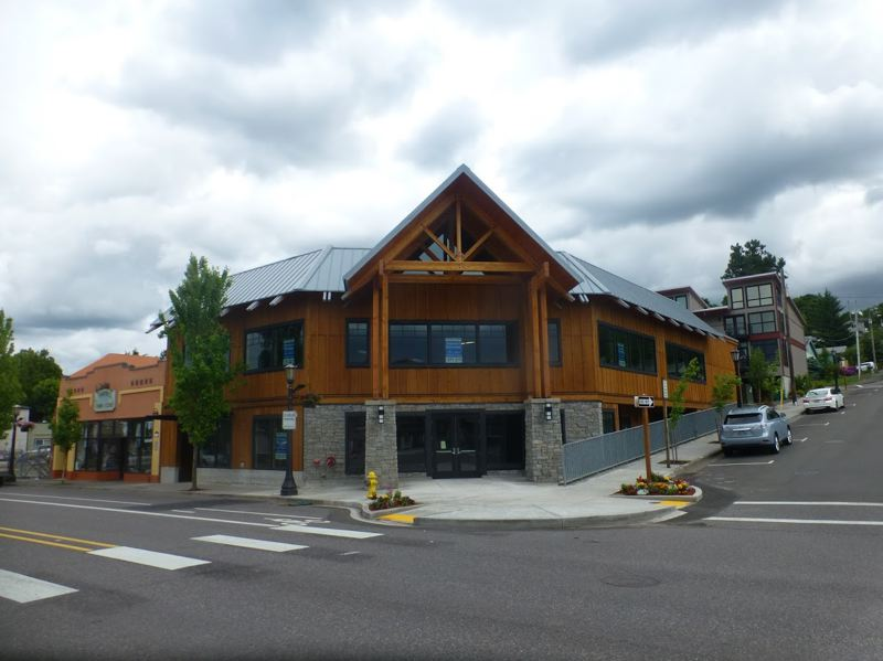 PMG PHOTO: SHANNON O. WELLS - A new building Bremik Construction completed this past spring is the latest in a comprehensive downtown Troutdale redevelopment project called Discovery Block.