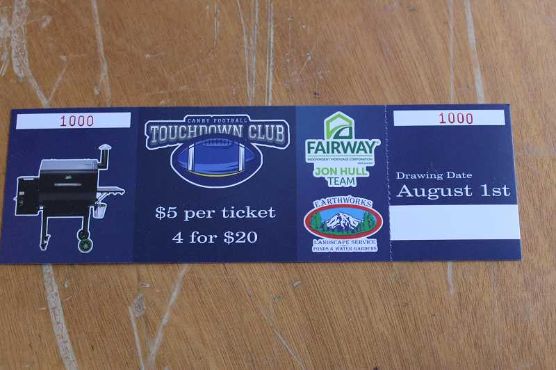 PMG PHOTO: KRISTEN WOHLERS - Raffle tickets to win a Green Mountain Grill will also be available at the booth located in the Cutsforth's Thriftway complex. Though misprinted, tickets are $5 each or 5 for $20.