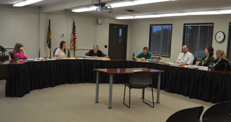 PMG PHOTO: NICOLE THILL-PACHECO - The St. Helens School District school board voted 4 to 0 Wednesday, June 26, to approve the 2019-20 budget. One board member was absent. The districts budget committee met several times before Wednesday to discuss the proposed budget before it was approved.