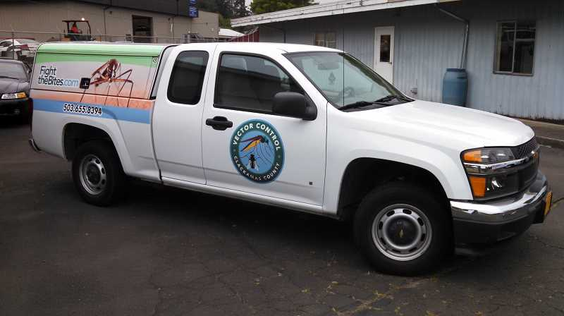 PHOTO: CLACKAMAS COUNTY VECTOR CONTROL - Clackamas County utilizes trucks like this to travel out to locations they are either surveying or treating.