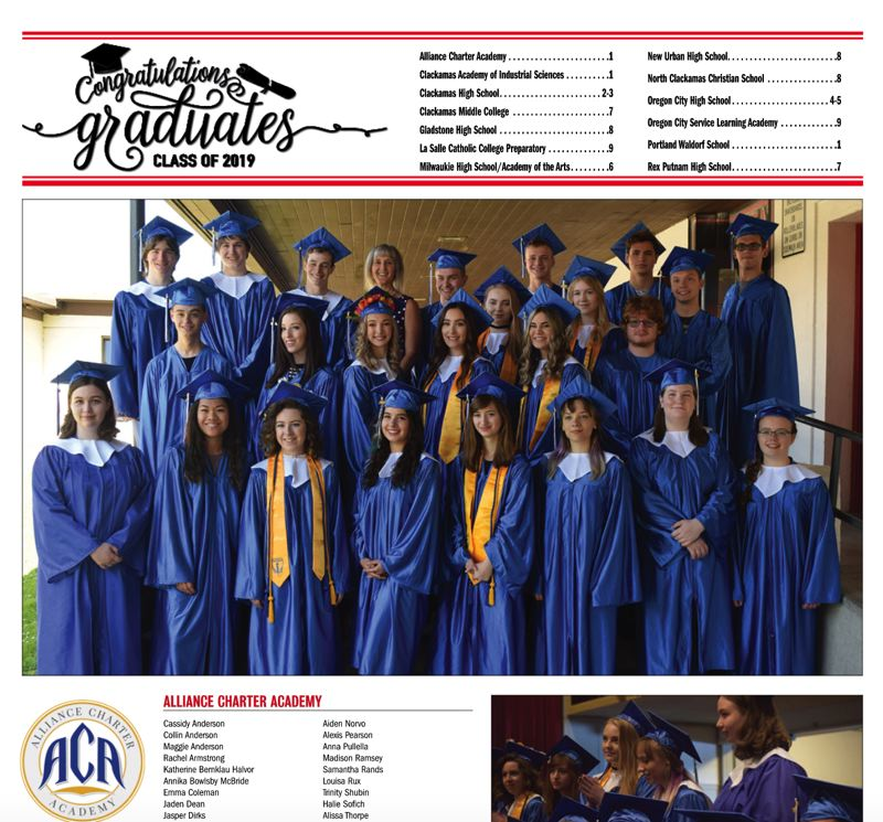 (Image is Clickable Link) Graduation 2019 - Clackamas Review / Oregon City News