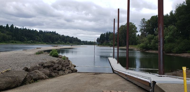 COURTESY PHOTO - In summer of 2019, a new boat dock at Meldrum Bar Park opened to the public in Gladstone.