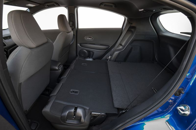 HONDA NORTH AMERICA - The rear Magic Seats in the HR-V can also be folded flat for maximum carrying capacity.