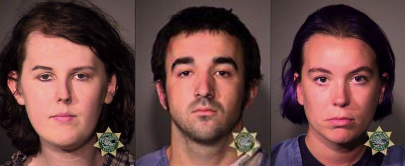 MCSO PHOTOS VIA KOIN 6 NEWS - FROM LEFT: James Stocks, Gage Halupowski and Maria Dehart