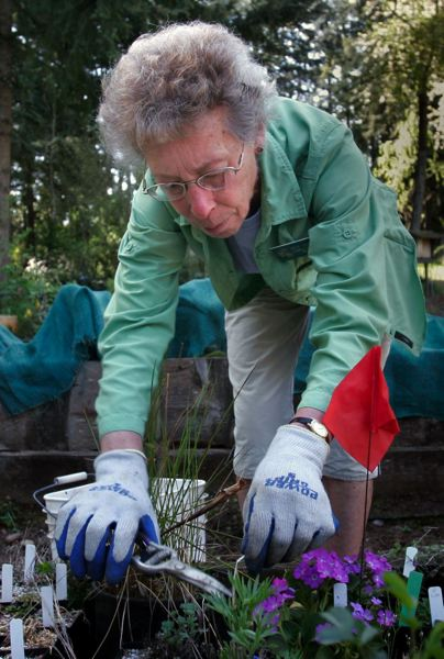 PMG FILE PHOTO - In addition to a small staff that handles daily operations, Leach Botanical Garden relies on volunteers to help with the upkeep of garden areas.