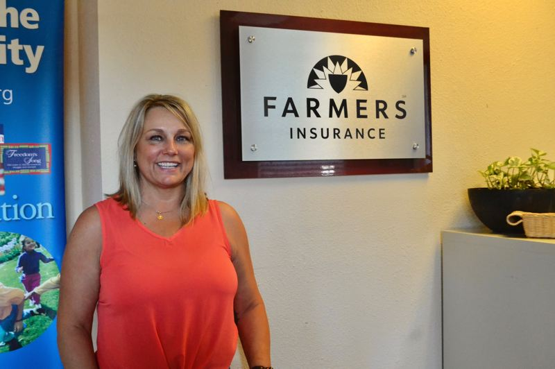 PMG PHOTO: BRITTANY ALLEN - Mary Forrest insures everything from commerical enterprises to cars through Hamburg Insurance in Sandy.