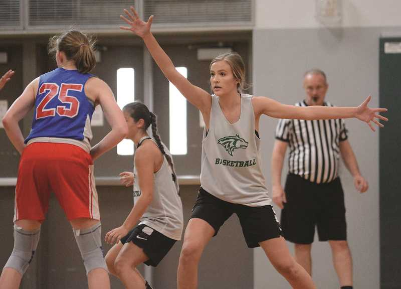 PMG PHOTO: DAVID BALL - Returning starter Katie Ensign will be the Huskies lone senior for the 2019-20 team. North Marion will feature a much younger team for the coming season.