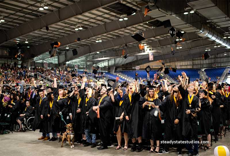 COURTESY PHOTO: ORCA - Oregon Connections Academy seniors graduated June 14 at the State Fairgrounds in Salem.