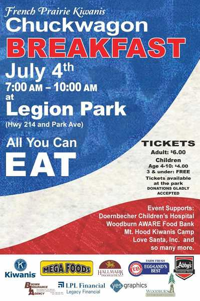 COURTESY PHOTO - This years Chuckwagon Breakfast will be held at Legion Park from 7 to 10 a.m.