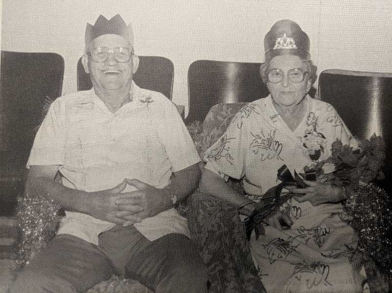 PMG PHOTO - In 1989, Woody and Dorothy Anicker were crowned king and queen of the Estacada Timber Festival.