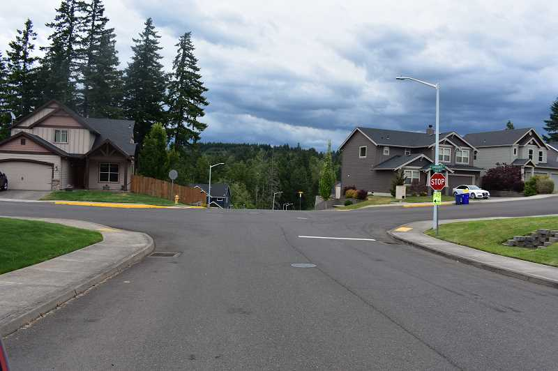 PMG PHOTO: EMILY LINDSTRAND - Estacada city leaders are considering traffic safety options for the intersection of Gardiner Drive and Cascadia Ridge Drive.
