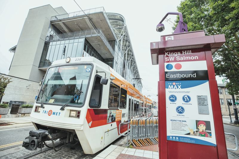 PMG PHOTO: JONATHAN HOUSE - TriMet is considering closing the Kings Hill/SW Salmon St. MAX station and two other downtown light-rail stops. The board of the regional transit agency is scheduled to vote on the closures at its June 24 meeting.