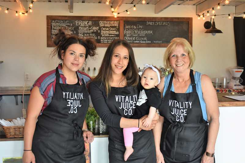 PMG PHOTO: EMILY LINDSTRAND - Staff at Vitality Juice Co. are eager to connect customers with fresh and healthy food and drink options.