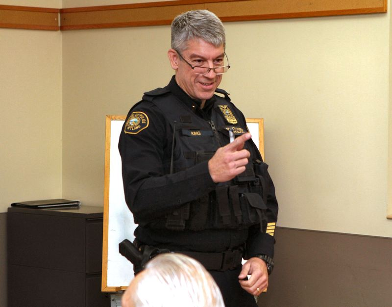 FILE PHOTO - Robert King addresses the East Precinct Involved Citizens group in 2014.