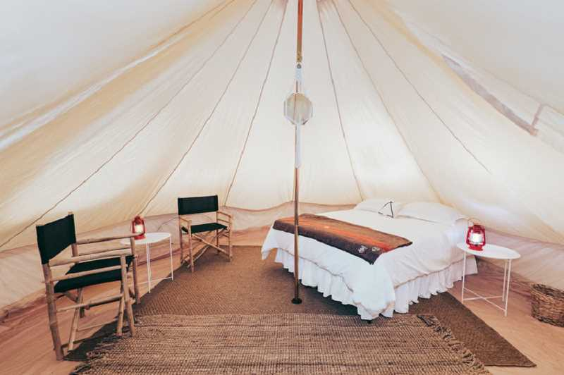 COURTESY PHOTO: WILD HARE COUNTRY FESTIVAL - 'Glamping' tents are available for those who want to stay overnight in style.