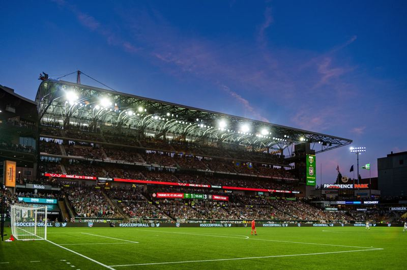 COURTESY PHOTO: DIEGO G. DIAZ - The new eastside seats at Providence Park have been a big hit with Portland Timbers fans.