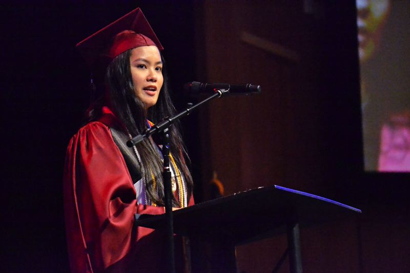 PMG PHOTO: BRITTANY ALLEN - Dannah Mangubat graduated as valedictorian of the Sandy High Class of 2019 on June 14.