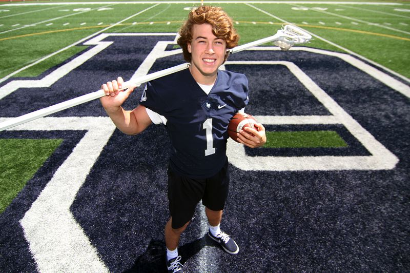 PMG PHOTO: MILES VANCE - Lake Oswego's Keenan DeRaeve was named the Lake Oswego Review's 2018-19 Athlete of the Year for Lake Oswego High School after leading his team to state championships in both football and lacrosse.