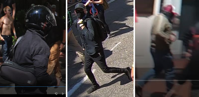 VIA PPB - The three new suspects that Portland Police hope to identify are shown here.
