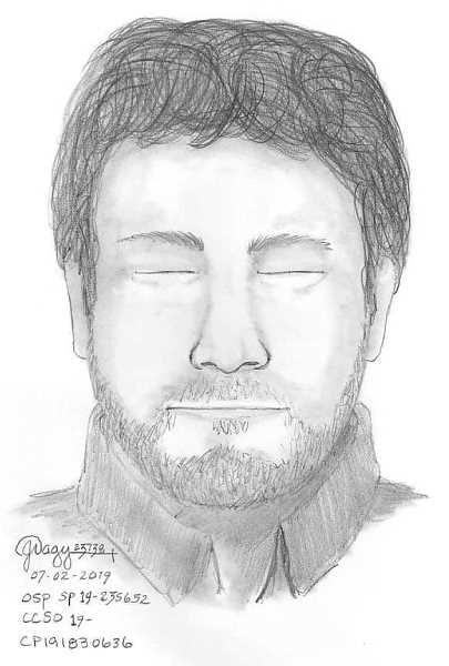 COURTESY PHOTO: CLACKAMAS COUNTY SHERIFF'S OFFICE - Police released this sketch of the suspect in an attempted kidnapping at Milo McIver State Park on Tuesday, July 2.