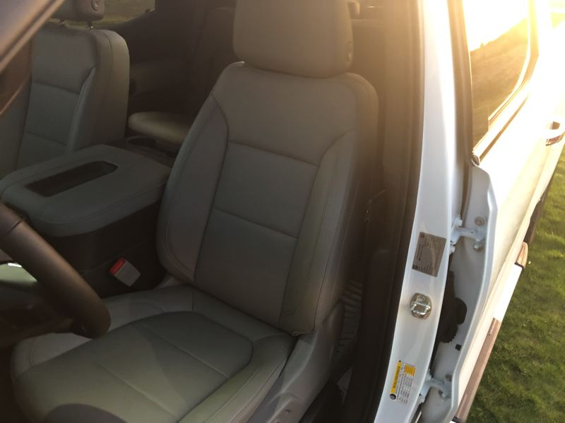 PMG PHOTO: JEFF ZURSCHMEIDE - The big, supportive seats in the 2020 Silverado make long trips easy.