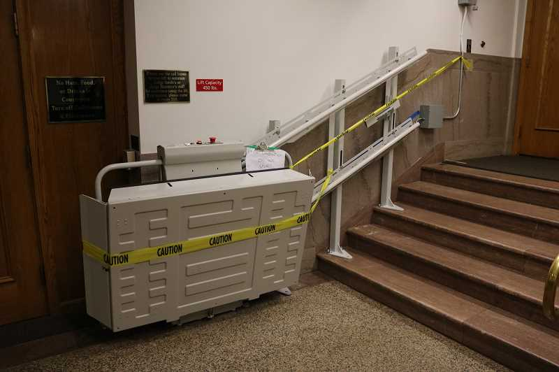 PHOTO: CLACKAMAS COUNTY PUBLIC AND GOVERNMENT AFFAIRS - The existing courthouse has various ADA accesibility issues.
