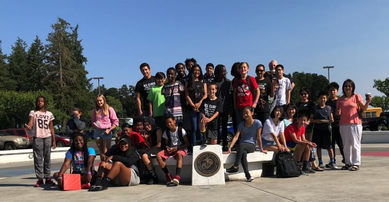 COURTESY PHOTO: ZERO ROBOTICS AND OREGONASK - Students pose for a group photo in 2018 after taking part in the Zero Robotics competition in Oregon. This year, students in the St. Helens School District will have a chance to take part in the 2019 summer program, which will begin on July 10.
