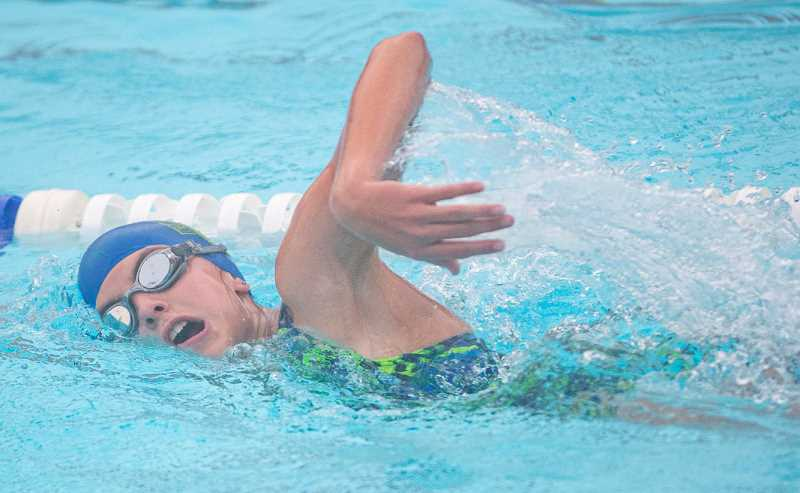 LON AUSTIN/CENTRAL OREGONIAN - Pati Carne was one of three Prineville Swim Team members who coaches said had especially good meets in Lakeview. The other two were Zachary Levesque and Emma Hehn.